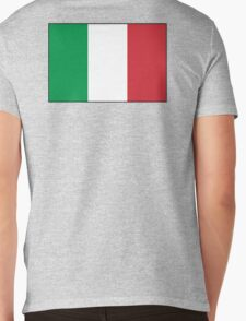 ITALY, ITALIAN, Italian Flag, Flag of Italy, 'Bandiera d'Italia', Pure & simple Mens V-Neck T-Shirt