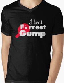 I beat Forrest Gump! Mens V-Neck T-Shirt