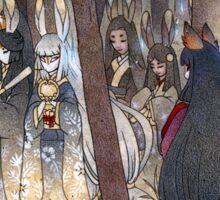 Procession - Kitsune Fox Rabbit Yokai Sticker