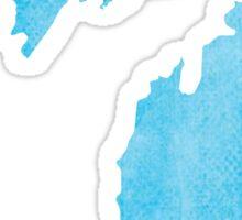 Michigan blue watercolor Sticker