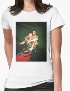 Seth Rogen and James Franco Womens Fitted T-Shirt