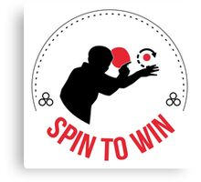 Spin to win Canvas Print