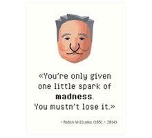 Robin Williams' madness Art Print