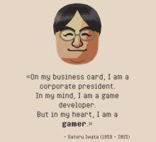 Mr. Iwata's wisdom by JackBiagini