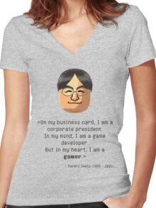 Mr. Iwata's wisdom Women's Fitted V-Neck T-Shirt
