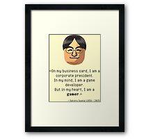 Mr. Iwata's wisdom Framed Print