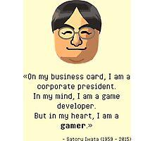 Mr. Iwata's wisdom Photographic Print