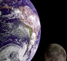 The Earth and the Moon by StocktrekImages