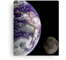 The Earth and the Moon Canvas Print