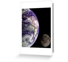 The Earth and the Moon Greeting Card