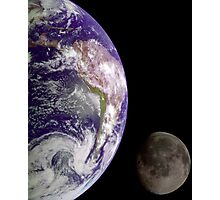 The Earth and the Moon Photographic Print