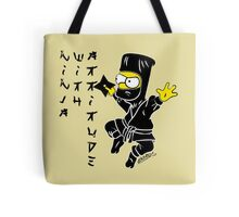 Ninja with Attitude Tote Bag