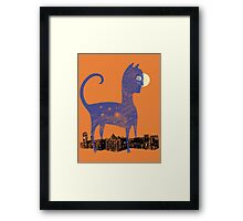 Night Cat owns the City Framed Print