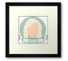 """Hoes Before Bros"" - Leslie Knope Framed Print"