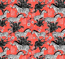 pattern of running zebras by Tanor