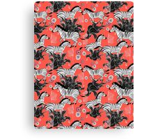 pattern of running zebras Canvas Print