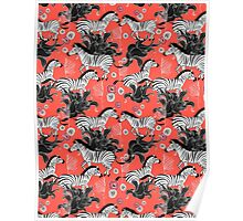 pattern of running zebras Poster