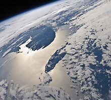 High-oblique view of the Gaspe Peninsula and Anticosti Island by StocktrekImages