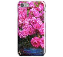 jane's roses with blue jar iPhone Case/Skin