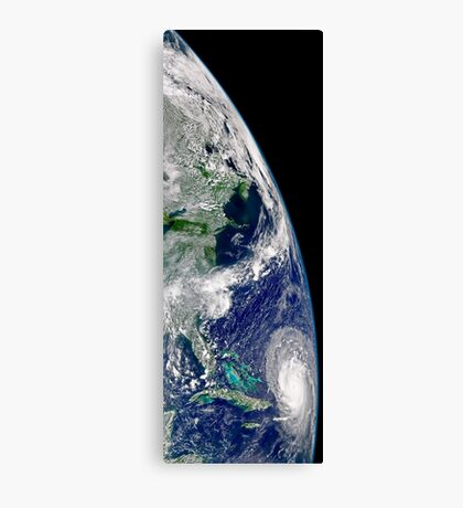 View of Hurricane Frances on a partial view of Earth. Canvas Print