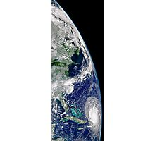 View of Hurricane Frances on a partial view of Earth. Photographic Print