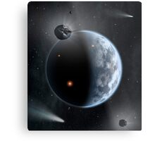 An Earth-like planet made up of silicate-based rocks with oceans coating its surface. Metal Print