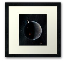 Artist's concept of an Earth-like planet rich in carbon and dry. Framed Print