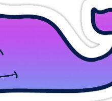 Ombre Purple Whale Sticker