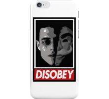mr robot - disobey iPhone Case/Skin