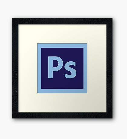 Adobe Photoshop Icon Framed Print