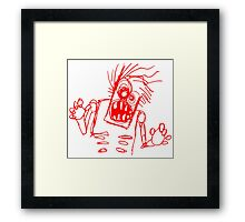doodle zombie of the undead Framed Print