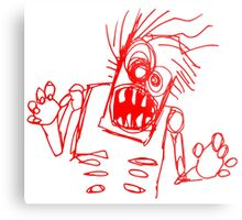 doodle zombie of the undead Metal Print