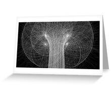 Particles Colliding Greeting Card