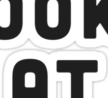 I toss books at sloths Sticker