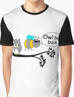 Owl bee back Graphic T-Shirt