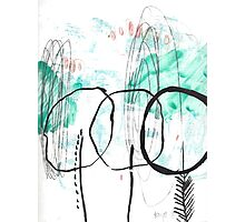 Forest Abstract Cool Cute Illustration Chill Nature Photographic Print