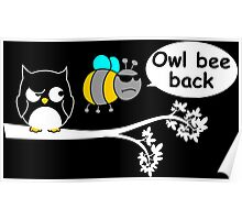 Owl bee back Poster