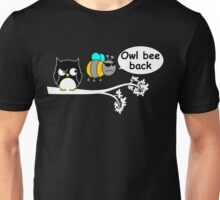 Owl bee back Unisex T-Shirt