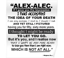 """TMI - Malec """"If I gave you the impression..."""" Poster"""