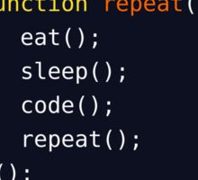 Eat, Sleep, Code, Repeat Sticker