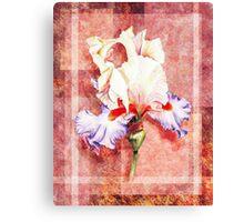 Decorative Iris Painting Canvas Print