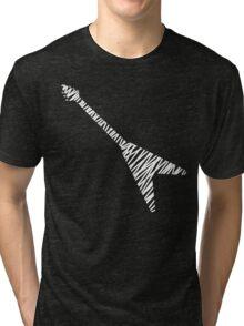 Flying V guitar sketch Tri-blend T-Shirt
