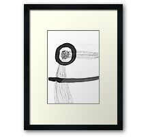 Wind Fairy Cool Cute Art Chill Relaxing Simple Abstract  Framed Print