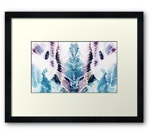 BLUE AND PURPLE Framed Print