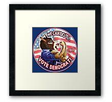 Vote Democrat Donkey 2016 Framed Print
