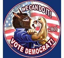 Vote Democrat Donkey 2016 Photographic Print