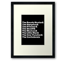 The Hateful Eight - Helvetica Framed Print