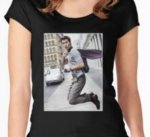 Ansel Elgort 4 Women's Fitted Scoop T-Shirt