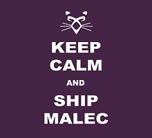 TMI - Malec : Keep calm and ship malec Unisex T-Shirt