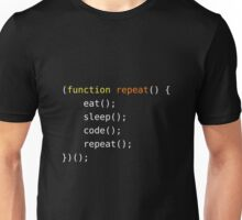 Eat, Sleep, Code, Repeat Unisex T-Shirt